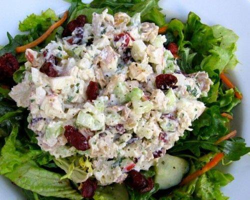 Best Chicken Salad with Apples and Cranberries