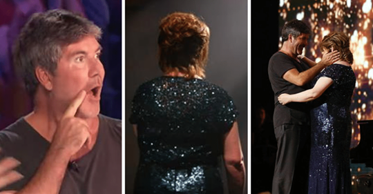 Susan Boyle returns after 9 years – watch as she turns around on stage and gives Simon chills
