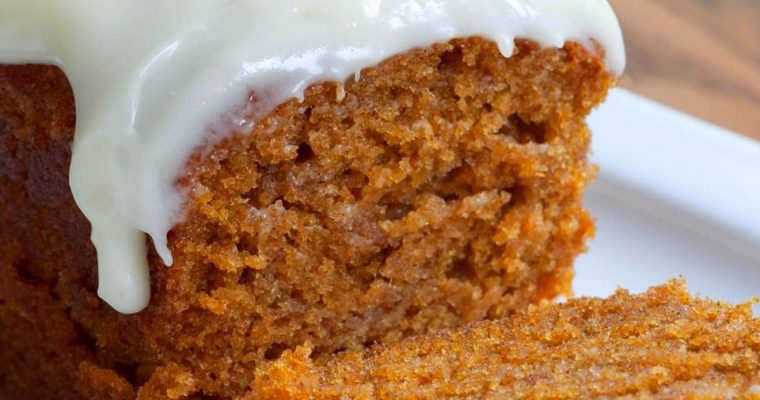 Pumpkin Loaf with Cream Cheese Icing