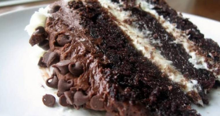 Awesome Chocolate Layer Cake with Cream Cheese Filling and Chocolate Buttercream