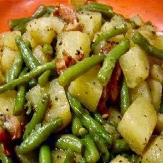 Crockpot Ham Green Beans and Potatoes