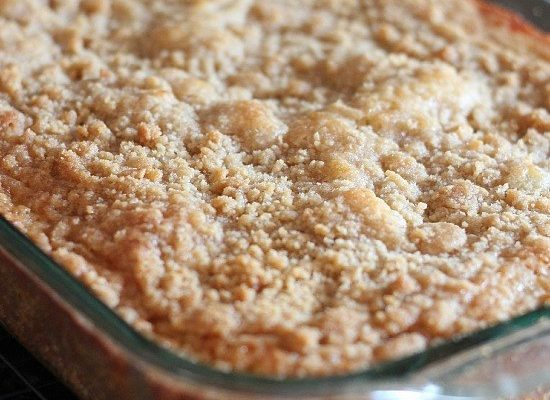 BANANA BREAD CRUMB CAKE – IT'S GOOD TO BE CRUMMY!