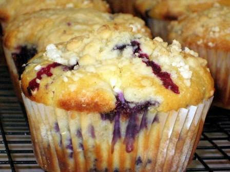 EASY BLUEBERRY CREAM CHEESE MUFFINS